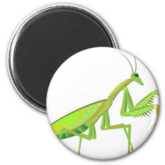 Vector verde del predicador imán redondo 5 cm