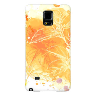 Vector Watercolor Background & Tropical Flowers Galaxy Note 4 Case