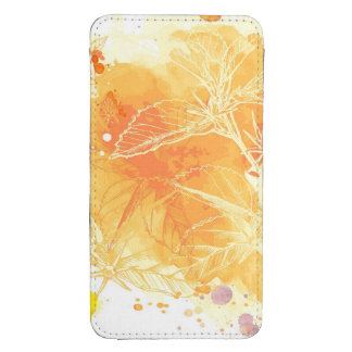 Vector Watercolor Background & Tropical Flowers Galaxy S4 Pouch