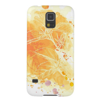 Vector Watercolor Background & Tropical Flowers Galaxy S5 Case