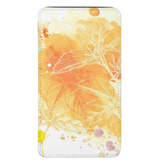 Vector Watercolor Background & Tropical Flowers Galaxy S5 Pouch
