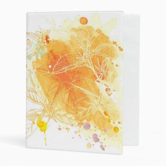 Vector Watercolor Background & Tropical Flowers Mini Binder