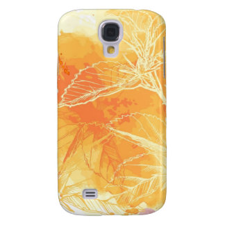 Vector Watercolor Background & Tropical Flowers Samsung S4 Case