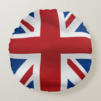 Vector  Waving British National Flag Round Pillow