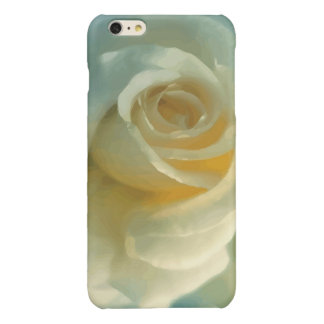 Vector White Rose Glossy iPhone 6 Plus Case