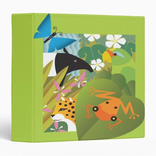 Vector Wild Animals Illustration Notebook Binder