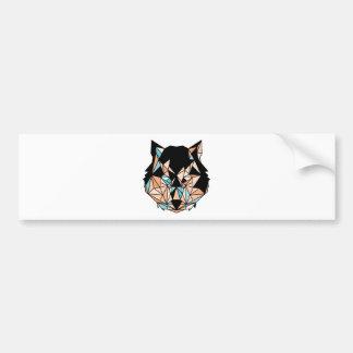 Vector Wolf Bumper Sticker