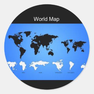 Black World Map Stickers Zazzle - Huge classic world map