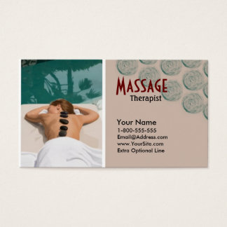 Vectored Lady Massage Therapy Business Card