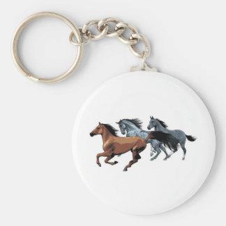 vectores de los caballos que corren negro gris mar llavero redondo tipo pin