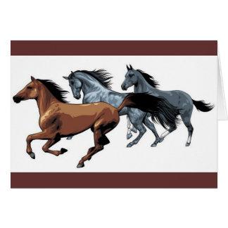 vectores de los caballos que corren negro gris mar tarjetas
