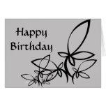 Vectores grises y negros, feliz cumpleaños - modif tarjeta