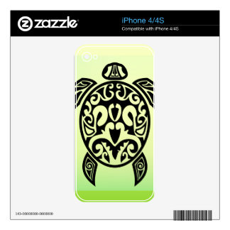 VectorPortal-Turtle-Tattoo-Vector.ai Decals For iPhone 4