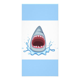 vectorstock_383155 Cartoon Shark Teeth hungry Card