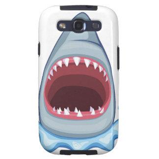 vectorstock_383155 Cartoon Shark Teeth hungry Samsung Galaxy S3 Covers