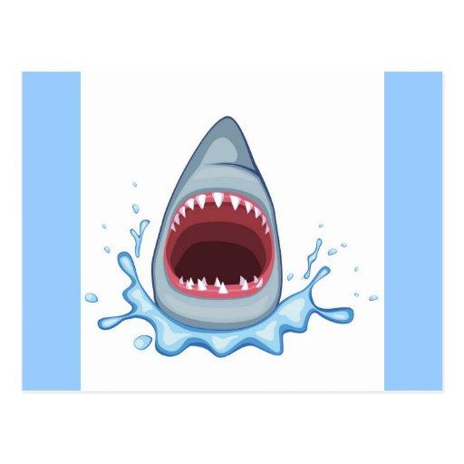 vectorstock_383155 Cartoon Shark Teeth hungry Postcard