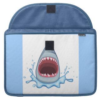 vectorstock_383155 Cartoon Shark Teeth hungry Sleeve For MacBook Pro