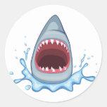 vectorstock_383155 Cartoon Shark Teeth hungry Classic Round Sticker