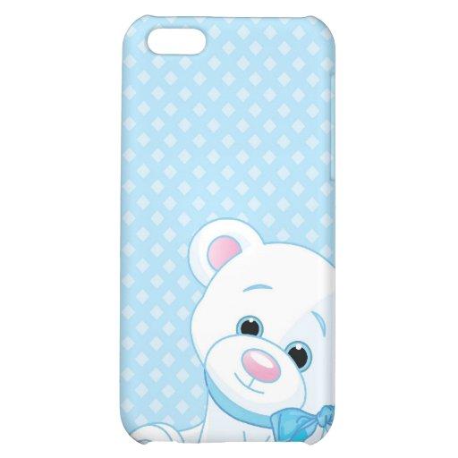 vectorstock_82298 Blue baby bear newborns iPhone 5C Cases