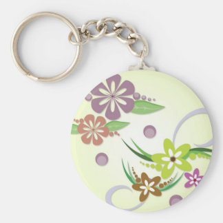 vectorvaco-09101608-floral-vectors-large basic round button keychain