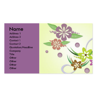 vectorvaco-09101608-floral-vectors-large, Name,... Business Card