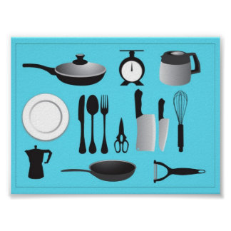 vectorvaco_09101901_kitchen_stuffs_vectors_large poster