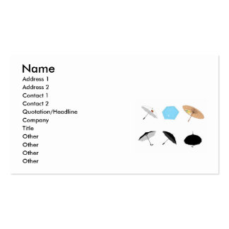 vectorvaco_09101901_umbrella_vectors_large, Nam... Business Card Template