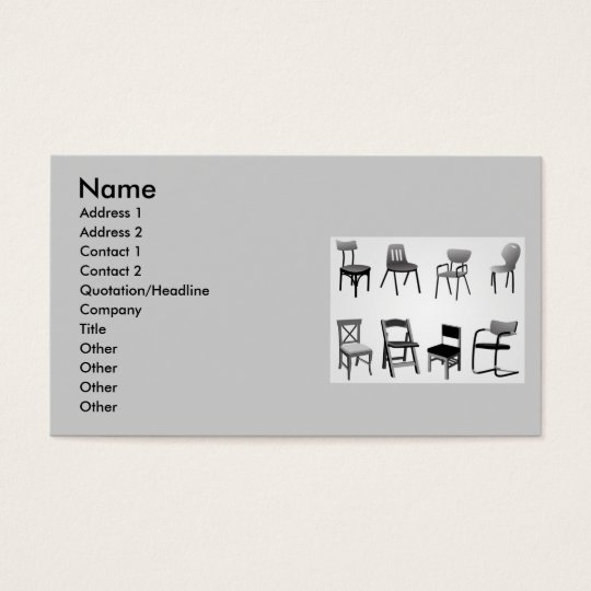 vectorvaco_chair_vectors_09102901_large, Name, ... Business Card