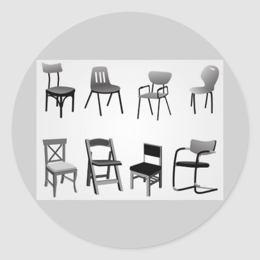 vectorvaco_chair_vectors_09102901_large classic round sticker