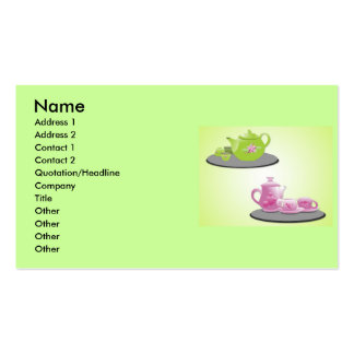 vectorvaco_tea_set_vectors_09112001_large, Name... Double-Sided Standard Business Cards (Pack Of 100)