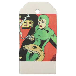 Veda the Cobra Woman Wooden Gift Tags
