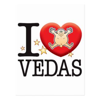 Vedas Love Man Postcard
