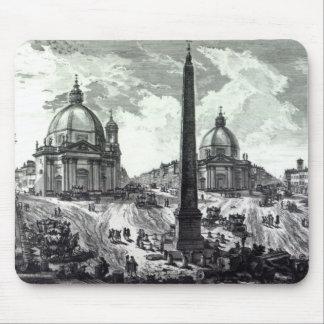 Veduta della Piazza del Popolo, c.1750 Mouse Pad