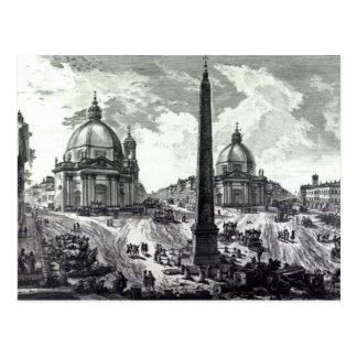 Veduta della Piazza del Popolo, c.1750 Post Cards