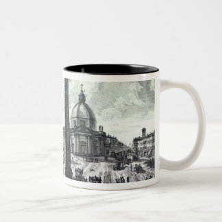 Veduta della Piazza del Popolo, c.1750 Two-Tone Coffee Mug