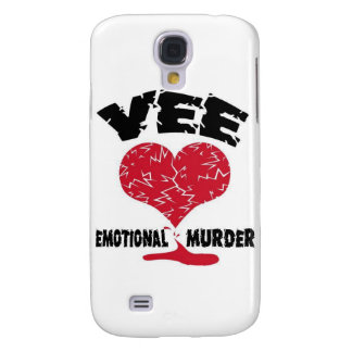 VEE-Emotional Murder Logo Galaxy S4 Cover