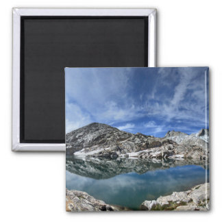 Vee Lake and Seven Gables Panorama - Sierra Magnet