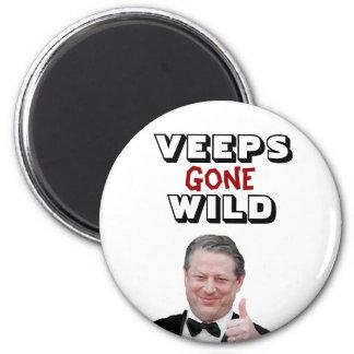 Veeps Gone Wild:  Al Gore 2 Inch Round Magnet