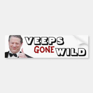 Veeps Gone Wild: Al Gore Car Bumper Sticker