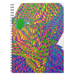 Veer Savarkar Psychedelic Spiral Notebook