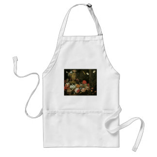 Veerendael Flowers round a Classical Bust Adult Apron