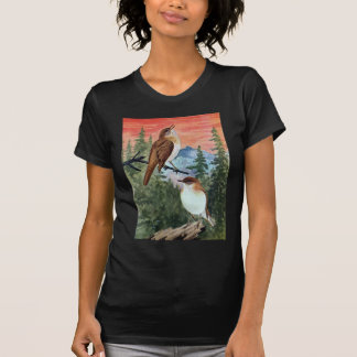 Veeries in a Coniferous Forest Shirt