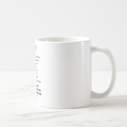 veg numbers coffee mug