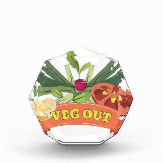 Veg Out Acrylic Award