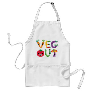 Veg Out - apron with cool vegetables