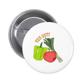 Veg Out 2 Inch Round Button