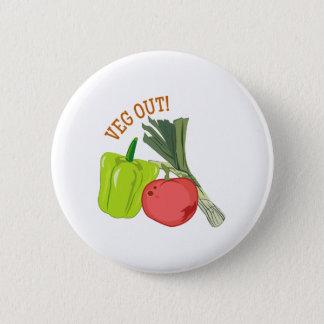 Veg Out Pinback Button