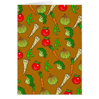 Veg Wallpaper Greeting Card