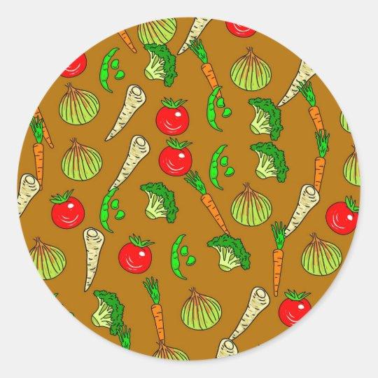 Veg Wallpaper Classic Round Sticker