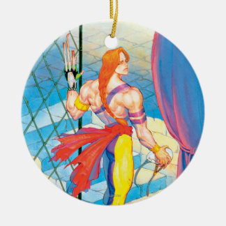 Vega After Fight Double-Sided Ceramic Round Christmas Ornament